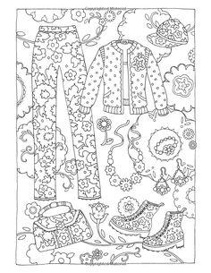 Fanciful Fashions Coloring Book: Amazon.de: Marjorie Sarnat: Fremdsprachige Bücher