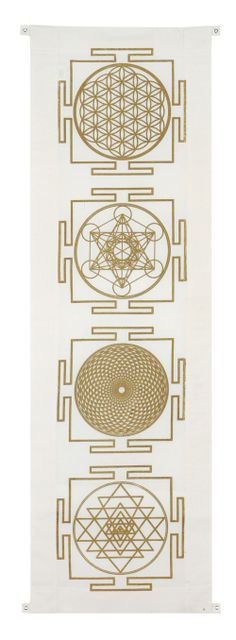 4 Yantra Banner / Sacred Geometry <3