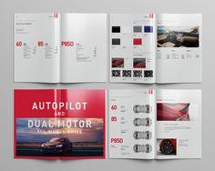 Behance Tesla Model S Katalog