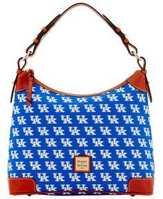Dooney & Bourke NCAA Hobo Bag Collection - Dooney & Bourke - Handbags & Accessories - Macy's Kentucky Wildcats, Sports Fan Shop, Blue Bags, Dooney Bourke, Online Bags, Hobo Bag, Bag Sale, Handbags, Shoulder Bag