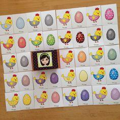 """""""Pia Polya Tavuk ve Yumurta Eşleştirme Oyunu""""  Bu oyun sayesinde renkleri ve dokular öğretmek mümkün. Oyunu 24ay sonrası çocuklarınızla oynamanızı öneriyorum.  2 sayfa A3 kartona çıkış alabilirsiniz."""