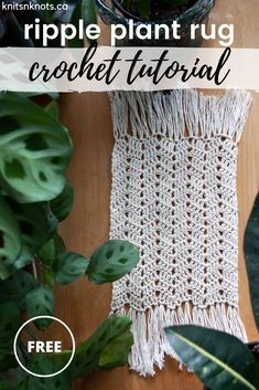 DIY boho plant coaster. Beginner-friendly FREE pattern! Make your own Ripple Plant Rug with any cotton yarn and this simple stitch pattern! (Quick gift idea!) Crochet Rug Patterns, Baby Patterns, Stitch Patterns, Crochet Abbreviations, Diy Coasters, All Free Crochet, Boho Diy, Yarn Over, Beautiful Crochet