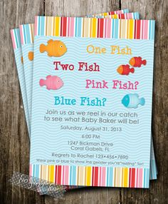 One Fish Two Fish Gender Reveal Invitation