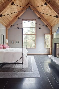 Tahoe Ridge House / WA Design Inc (8) The ceilings are perfect! Love the floors too, I wonder if they are heated.