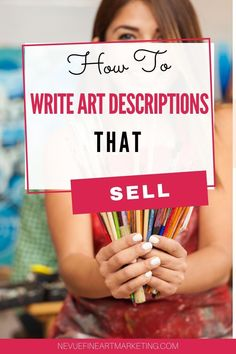 How To Write Art Descriptions That Sell - Everything you need to know about writing the perfect artdescritions. Selling art online takes more than just uploading an image. You need to help connect your potential buyer to the art you created. Etsy Business, Craft Business, Business Tips, Selling Art Online, Online Art, Sell My Art, Art En Ligne, Writing Art, Writing Services