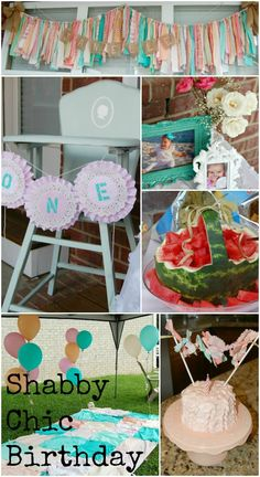 Perfect Shabby Chic First Birthday Party