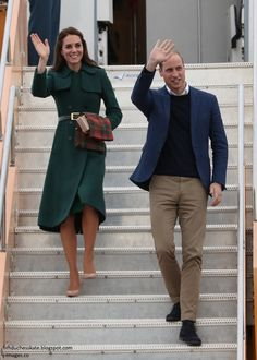 """Duchess Kate Blog on Twitter: """"It's Green Hobbs repeat for William and Kate's Arrival in Whitehorse"""