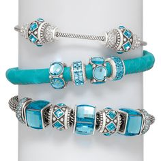 >>>Pandora Jewelry OFF! >>>Visit>> Brighton charm bracelet in aqua with spark beads Fashion trends Fashion designers Casual Outfits Street Styles Brighton Charm Bracelet, Brighton Charms, Brighton Bracelets, Brighton Jewelry, Pandora Jewelry, Charm Jewelry, Pandora Charms, Jewelry Art, Jewelry Accessories
