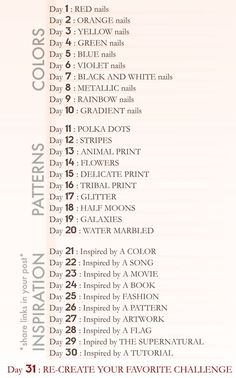 31 day nail challenge