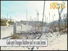 Haïti .- Image Baradères, Jérémie après le passage de l'ouragan Matthew, lundi 10 octobre 2016.