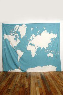 tenture carte du monde