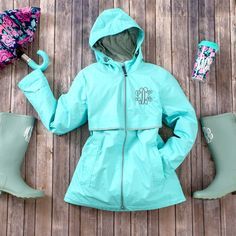 When it rains, dance in it! Stay comfy and dry with our New England Rain Jacket. Personalize it with your custom monogram. Rain Jacket Women, Nautical Stripes, Black Bikini Tops, Outfit Of The Day, Hooded Jacket, Windbreaker, Jackets For Women, Cute Outfits, Charles River