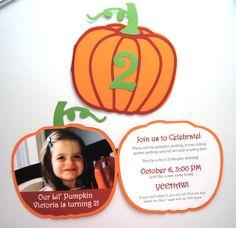 Pumpkin Invitation by BsquaredDesign on Etsy, $2.75