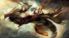 Concept Art Jean-Sebastien Rossbach Abstract Dragon