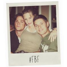 Winchesters with Mom #DaysThatNeverWere  Kudos to #SPN casting thou,man,They actually look like her kids in reality :P