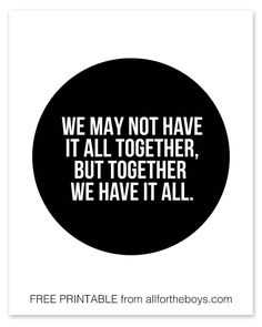 All together printable