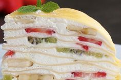 This Fruit Crepe Cake Will Make You Feel Like You Stepped Into An Adorable Japanese Café