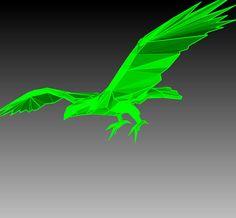 3D Paper EAGLE. Eagle papercraft model DIY template.