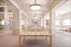 Apple Store Genius Bar is the longest in the world. 300 employees, 90% from Amsterdam and surrounding areas, assist and advise clients in 14 languages.