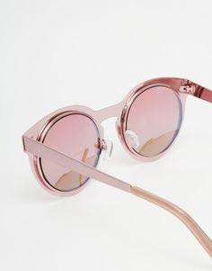 264ae524ae Image 4 of River Island Rose Gold Sunglasses