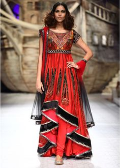 indian delhi fashion week dresses collection by JJ Valaya