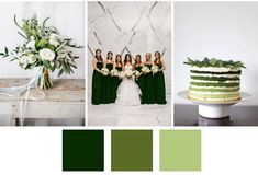 spring wedding palette, shades of green!!