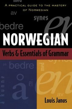 Norwegian Verbs And Essentials of Grammar: This compact volume offers an integrated guide to both Norwegian verbs and the basics of grammar. All the major verbal and grammatical concepts of the language are presented. Learn Brazilian Portuguese, Portuguese Lessons, Portuguese Language, Grammar Book, Learn A New Language, Book Format, Audio Books, Vocabulary, Good Books