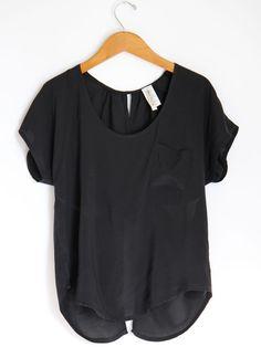 ++ cross open back shirt