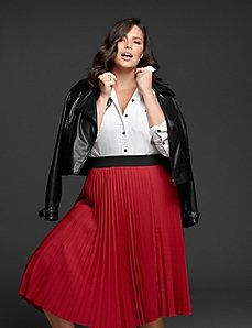 Honesty Lane Bryant Multi-color Side Zip Skirt Plus Size 22 Skirts
