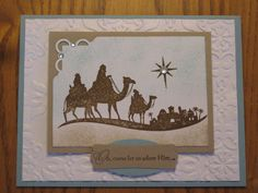 Christian Christmas Handmade Card Bethlehem Jesus Lord  friend Mom Dad Grandmother Sister Brother Stampin Up. $3.49, via Etsy.