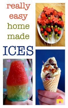 Really fun and easy homemade ice cream popsicle recipes