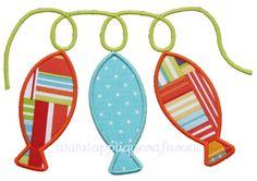 dish towel? String of Fish Applique Design