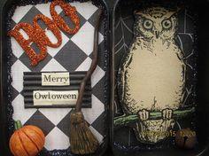 PRETTY AWFUL HAGUILD Halloween Altoid Tin by Creativelyjuiced Halloween Photos, Halloween Art, Broken China, All Art, Ephemera, Art Dolls, Creepy, Tin, Mosaic