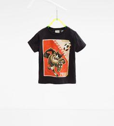 Tasmanian devil T-shirt Zara boys kids Looney Tunes