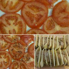 Ein schönes Frühstück für 2-3 Personen, mit Tomaten, frisch gemahlenen Himalaja Salz, frisch gemahlen schwarz, Grün und Weiß Pfeffer, gemahlen Chilly, Dunkles Stangen Brot, das Einschneiden, den Käse in Streifen schneiden und hineinstecken und zum Abschluss selbst gemachtes Pesto aus 7 Kräutern, Erdnüsse, Haselnüsse, Mandeln, Walnüsse, Karotten und Knoblauch dann in den Ofen bei Heißluft 170°C ca .25 -30 min und dann servieren   A nice breakfast for 2-3 people, with tomatoes, freshly ground…