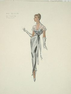 Edith Head sketch for Ann Blyth in The Buster Keaton Story (1957)