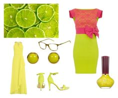 """Lime"" by adri-98 on Polyvore featuring Carrera, Badgley Mischka and Paul & Joe Beaute"