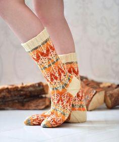 Gorgeou stranded colorwork socks
