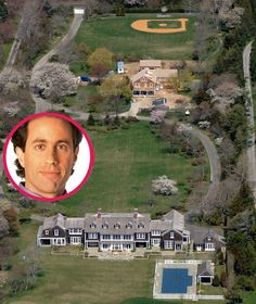 Jerry Seinfeld's Hampton mansion that he bought from Billy Joel for $32 million Big Mansions, Mansions Homes, Celebrity Mansions, Celebrity Houses, Hamptons House, The Hamptons, Hampton Mansion, American Mansions, Celebrities Homes