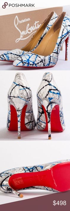 Christian Louboutin white snakeskin leather Christian Louboutin white snakeskin leather Christian Louboutin Shoes Heels