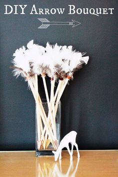 DIY Arrow Bouquet - how adorable would this be on the changing table for some more arrow themed decor!