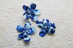 Blue Camo Flowers  Blue Camouflage Flowers  Camo by IDoDoodads, $5.90