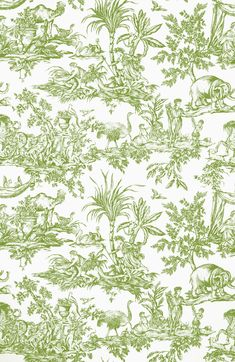 Anna French, Go Green, Printing On Fabric, Prints, Bedroom, Toile, Fabric Printing, Bedrooms, Dorm Room
