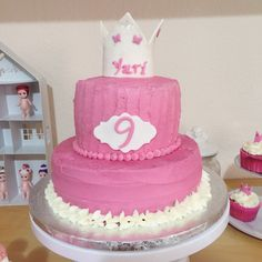 Chocolate & bubble gum cake. Princess cake