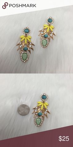 🎁Rockin' Resin Statement Earrings Give your ears some Gaga wear and bam you set to rock Friday night week after week.  Please make any offer because you never know.  Like to be sent a special exclusive offer for my closet.  Posh on, ladies. S Rosebud Fashions Jewelry Earrings