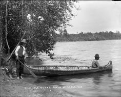 Birch Bark Canoe, Chain of Lakes, Wis. | Photograph | Wisconsin Historical Society