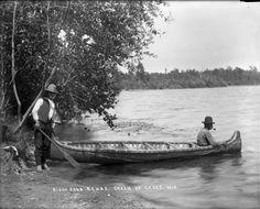 Birch Bark Canoe, Chain of Lakes, Wis. | Photograph | Wisconsin Historical Society