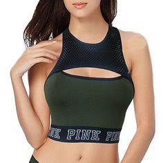 b3226d8f3c86d4 Victoria s Secret Pink Cotton Mesh High Neck Bralette at Amazon Women s  Clothing store