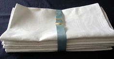Set of 10 Banquet Size Linen Napkins 29 x 29.  Dating by chalcroft, $190.00