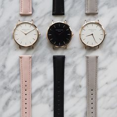 Pink, black, and gray watches Minimal Chic Style, Minimal Classic, Jewelry Accessories, Fashion Accessories, Fashion Watches, Fashion Fashion, Fashion Shoes, Mode Style, Swatch